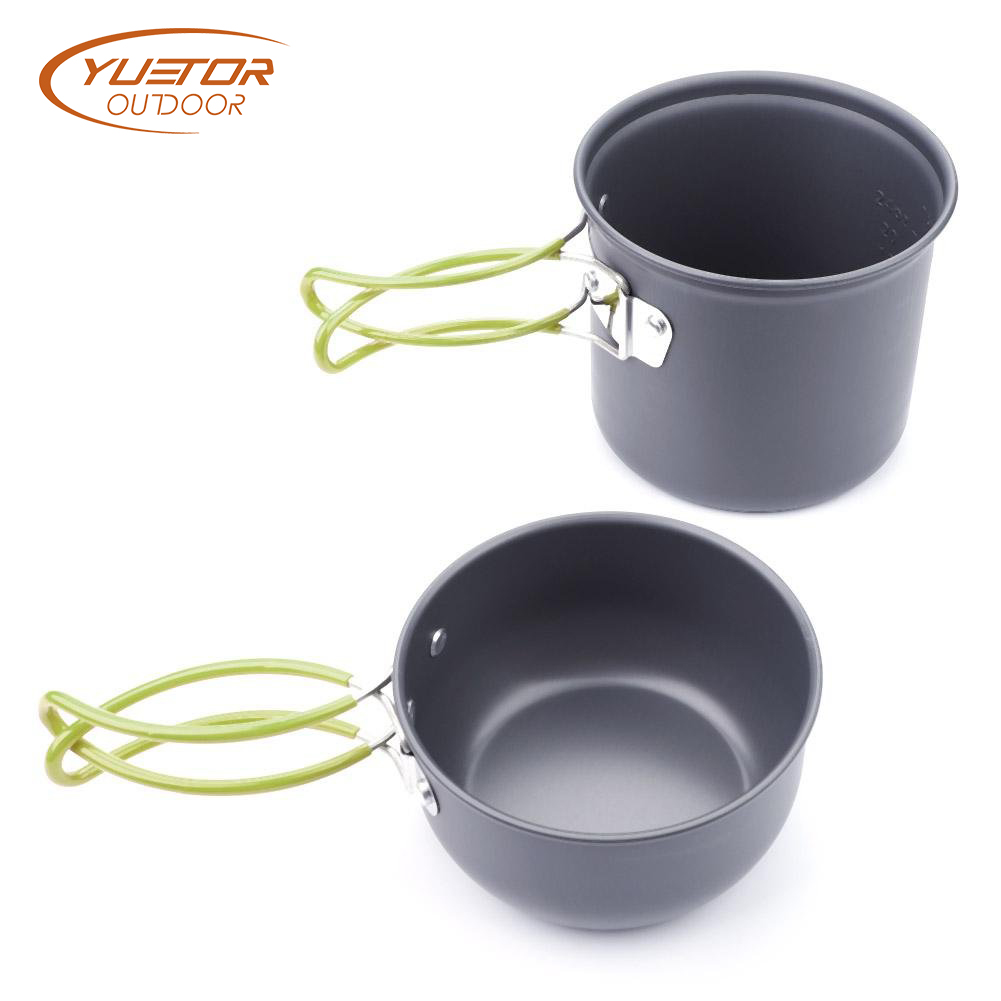 4 Pieces Quick Heating Cooking Pot Set for camping