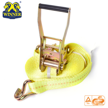 Polyester Webbing Light Ratchet Buckle Strap For Heavy Duty