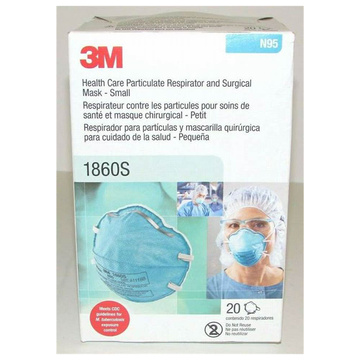 Pack of 20 3M MASK 1860 N95 Cup health care surgical mask and disposable particulate resp HEAD-MASK
