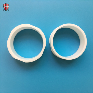 smooth polished ZrO2 zirconia ceramic sleeve customized