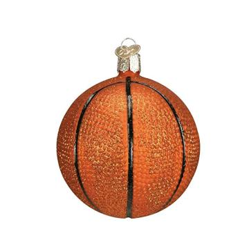 Customized Basketball Glass Blown Ornaments Round Glass Christmas Ball
