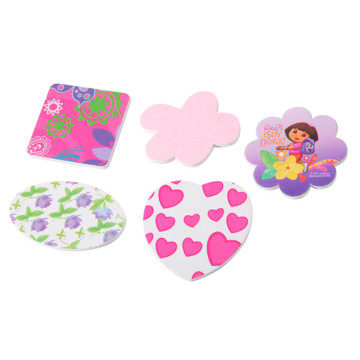 New Style Cute Double Sided Printed EVA Flower Shape Sponge Nail File