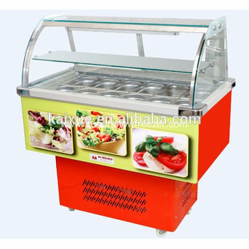 Double temperature salad refrigerated counter