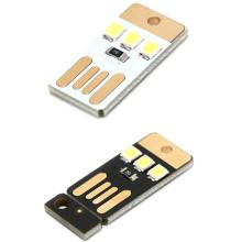 Mini Pocket Card USB Power LED Keychain Night Light 0.2W USB LED Bulb Book Light For Laptop PC Powerbank Night Lamp 5pcs/lot
