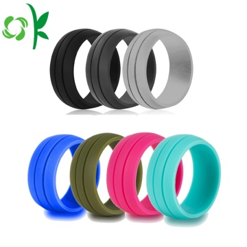 Layer Single Color Silicone Wedding Best Engagement Ring