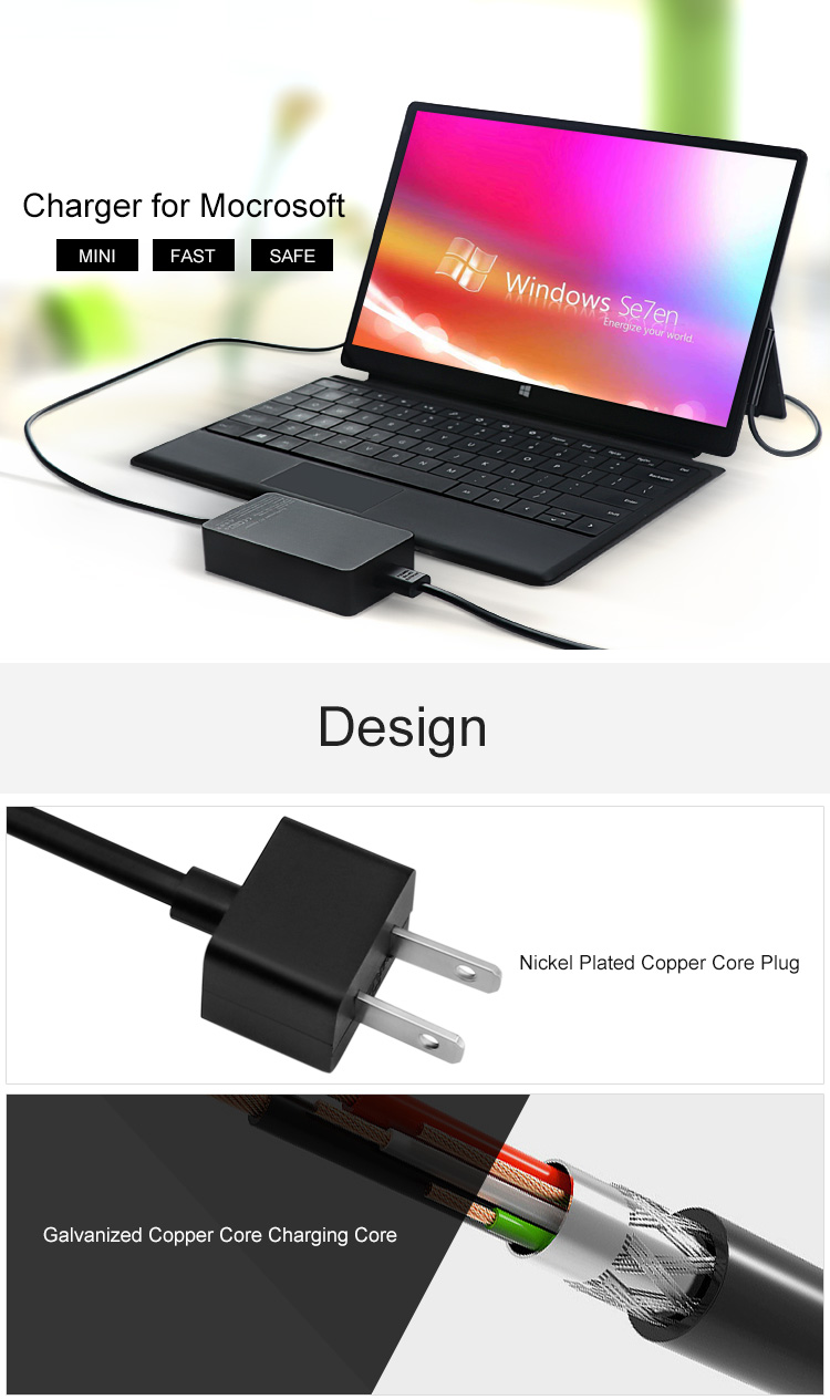 slim Microsoft Surface Pro Charger