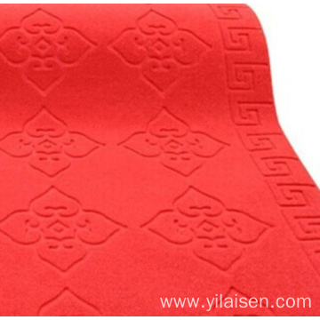 Factory direct printed embossed mat carpet in rolls