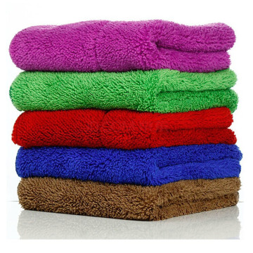 thick plush microfiber cloth car care towels