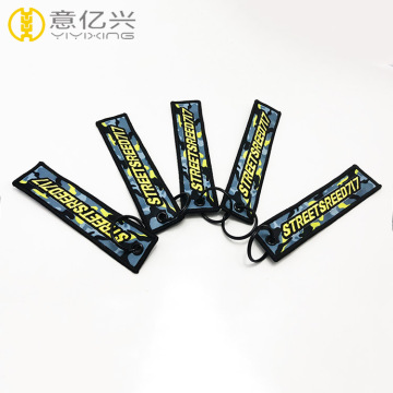 High quality custom embroidered military logo keychain