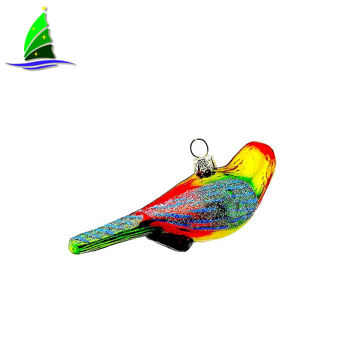 Tropical Parrot Glass Ornament