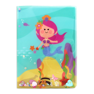 PVC COVER MERMAID LIQUID NOTEBOOK-0