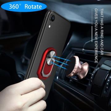 Multipurpose Mobile Phone Holder 360 Degree Car Air Vent Grip Mount Stand Rotation Magnetic Finger Ring Phone Holder Bracket