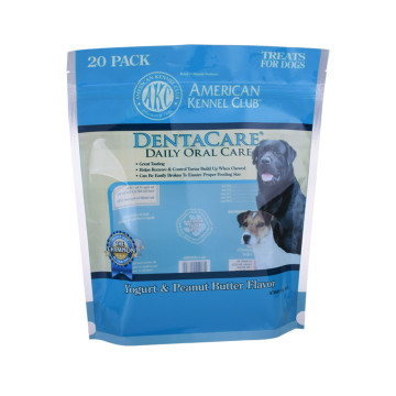 250g Plastic stand up dog food bag