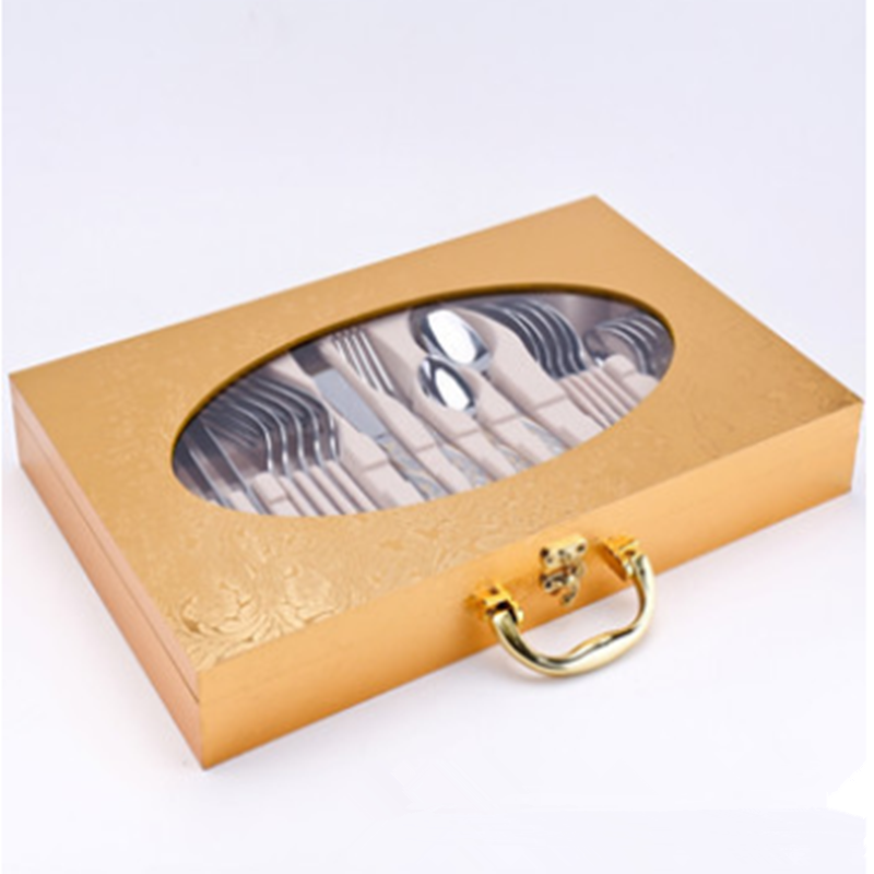 18-8 Stainless Steel Cutlery Wooden Box