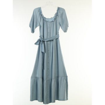 Tencel Denim Light Washed Long Dress