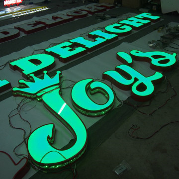Custom Outdoor LED Signs Plastic Metal Channel Letters