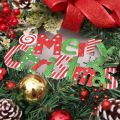 45CM Garland Arrangement Christmas Ornament Bowknot Snowflake Wreath Decorative Wreath Bow Christmas Decoration