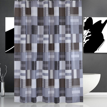 Shower Curtain PEVA Black Square
