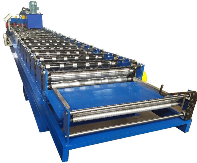 metal sheet roofing machine