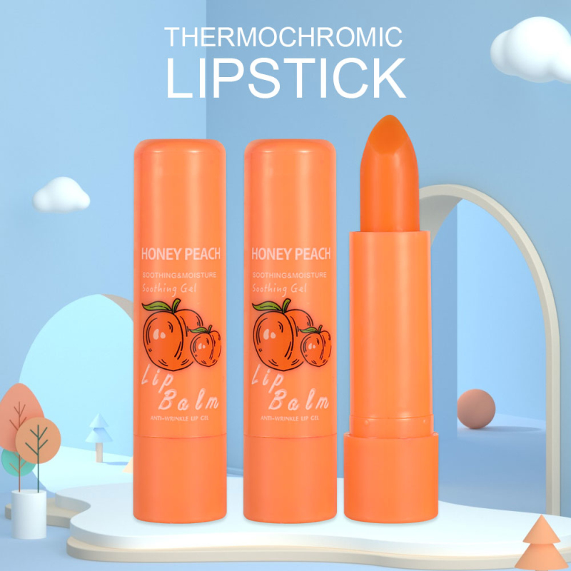 Natural Temperature Lipstick Change Color Peach Jelly Long Lasting Moisturizing Sweet Cute Peach Lips Nutritious Cosmetic TSLM1