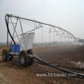 Moving horizental pivot irrigation system