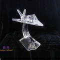 Crystal Glass Aircraft Model For Decoration