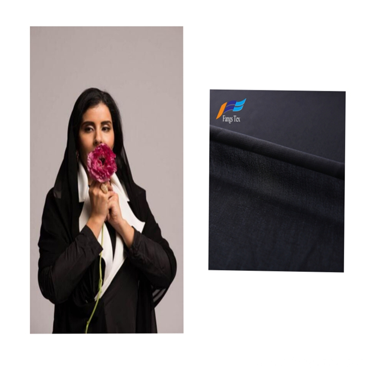 100% Polyester Nida Woven Formal Black Abaya Fabric