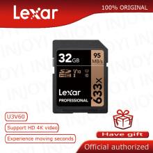 Lexar 32GB 16GB 64GB Class 10 SD SDHC SDXC Memory Card in SD card 128GB 256GB 95MB/s for Digital SLR camera and HD camera