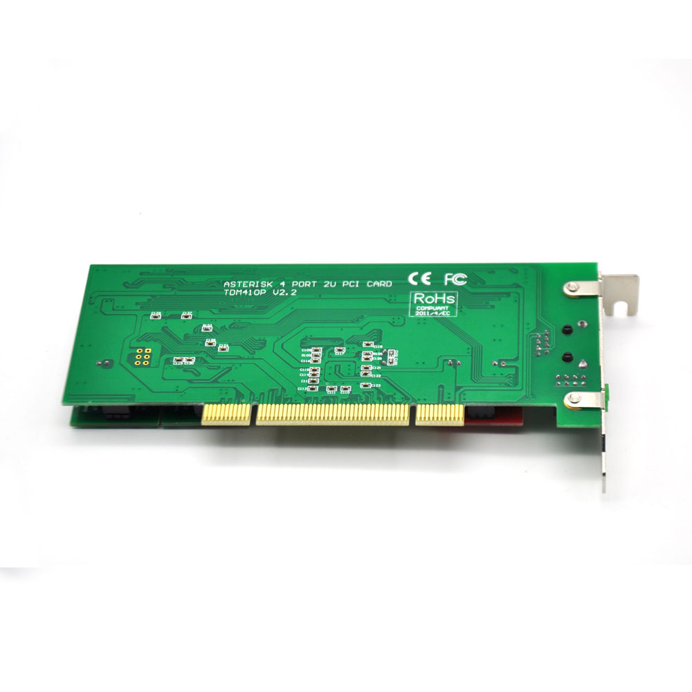 New Wholesale TDM410P 2U Asterisk PCI 4 FXS/FXO Analog Voice Telephony Card Trixbox/Elastix/Freeswitch IP PBX
