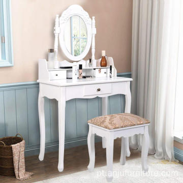 China High Quality bedroom Makeup Dressing price Table, White