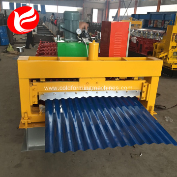 Roof panel steel corrugated rolling and forming machine