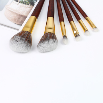 6 Piece Brush Set Makeup Sintetis terbaik