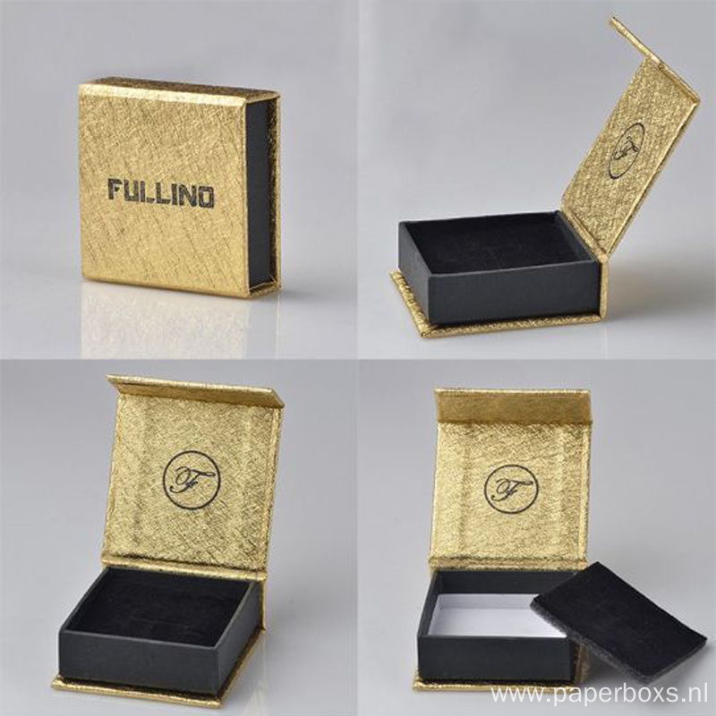 Special Paper Custom Logo Magnetic Ring Jewelry Box
