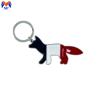 Metal Custom Dog Pattern Keychain With Logo