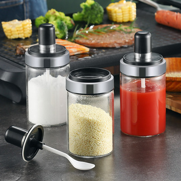Food Grade Kitchen Accessories Condiment Bottle With Scoop