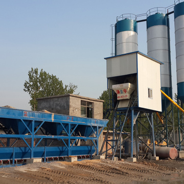 Hopper type advanced 75m3h cement concrete batching plant