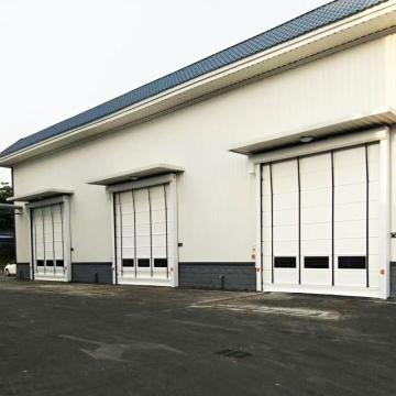 PVC frameless stacking high speed door