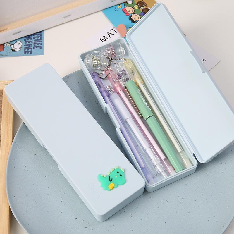 Yisuremia Candy Color Cartoon Kawaii Pencil Case Plastic Pencil Box Desk Organizer Boy Girl Kids Gift School Supplie Stationery