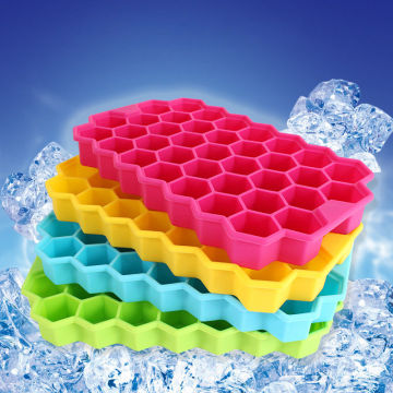 Honeycomb Ice Freezer 37 cavities Silicone Ice Jelly Tray