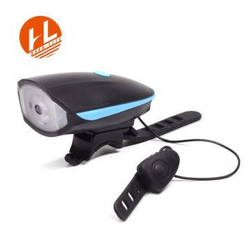 USB Rechargeable led speaker bicycle light with horn