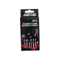 christmas party spiral colorful candles