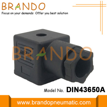 Black DIN43650A Electrical Solenoid Valve Connector