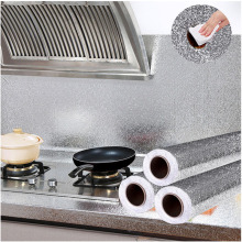 Kitchen Self Adhesive Oilproof Stickers Wallpaper Home Decor High Temperature Cabinet Stove Waterproof Aluminum Foil Wall Papers