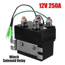 12V 250A Winch Solenoid Relay Contactor Winch Rocker Switch Thumb 2000lb-5000lb For ATV UTV SUV 4x4 Off-road