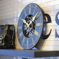 Wooden Wall Gear Clock
