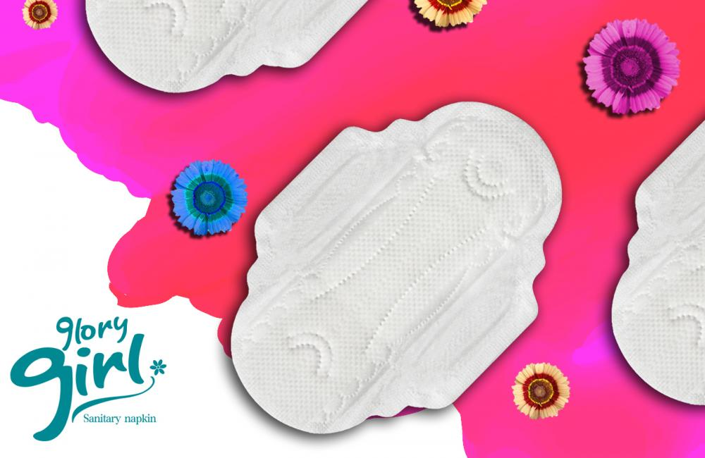 Ultra thin fabric sanitary napkins with scent