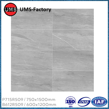 Long thin grey kitchen tiles