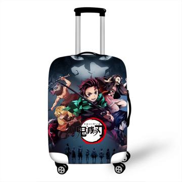 18-32'' Demon Slayer Kimetsu No Yaiba Elastic Luggage Protective Cover Trolley Suitcase Dust Bag Case Cartoon Travel Accessories