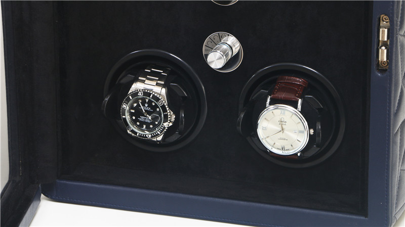 Bule leather 4 watch winder