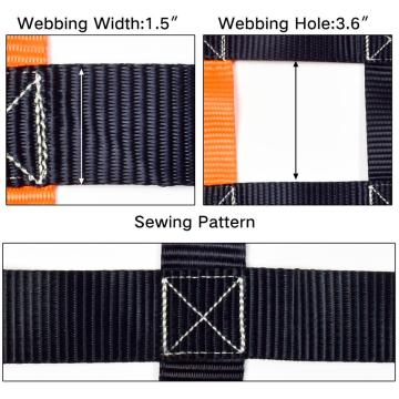 "40"" x 40"" Heavy Duty Orange Color Cargo Net With 4x4 Mesh Webbing Capacity 1100LBS For Pickup Truck And Cars"